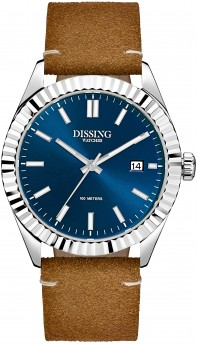 Dissing Date Leather Steel/Blue-20