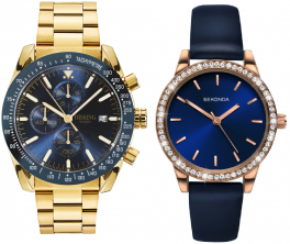 Dissing Chrono Blue/Gold Sekonda Ladies 2453-20