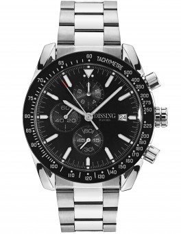 ** PRE-ORDER LEVERING 20 APRIL ** Dissing Chrono Black/Steel-20