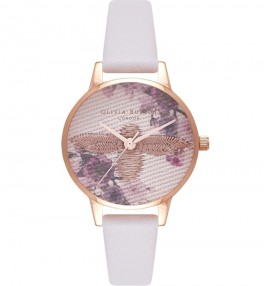 Olivia Burton Midi Emroidered Dial Blush and Rose Gold-20