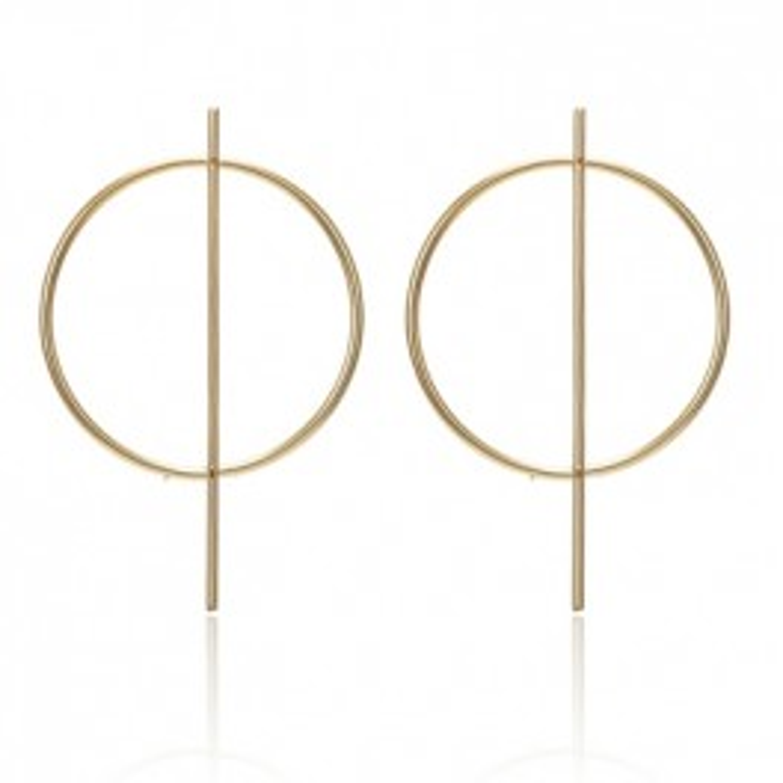 Øreringe med flot guld design-20