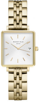 Rosefield The Mini Boxy White Sunray Steel Gold-20
