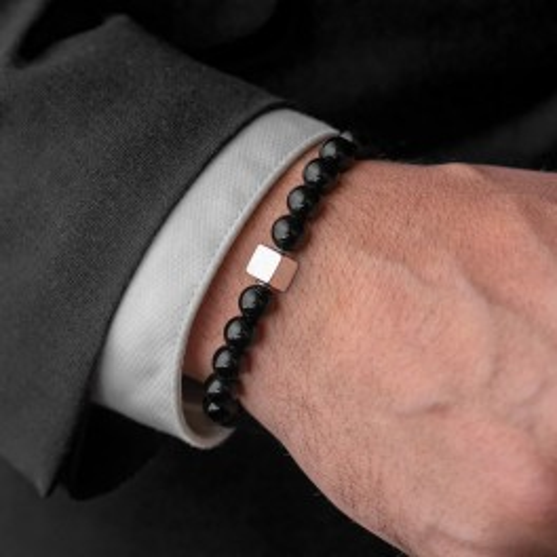 Eye Stone Handmade Bracelet Black/Silver-20