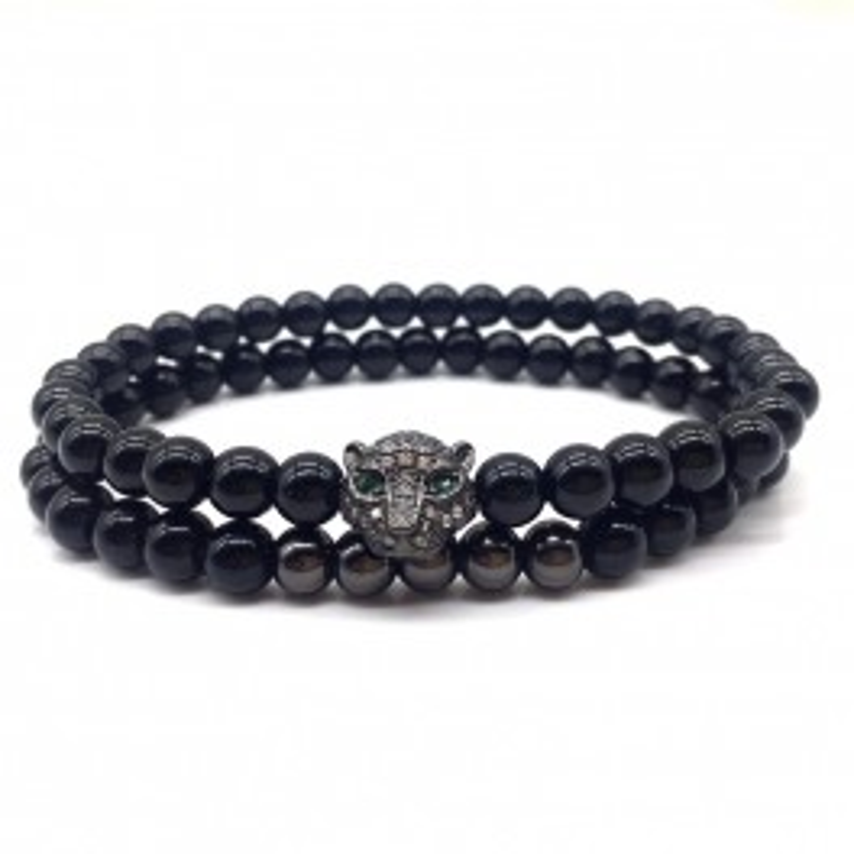 Black Cheetah Handmade Bracelet-20