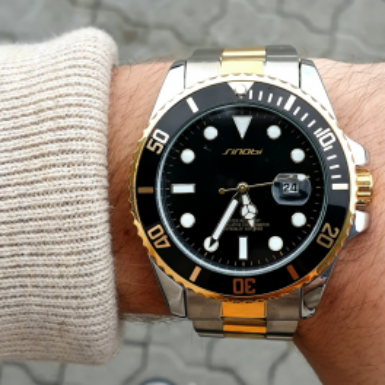 Guld og sort dykkerur-20