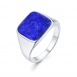 Northern Legacy Lapis Signature Ring Silver-20