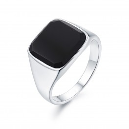 Northern Legacy Black Onyx Signature Silver Ring-20