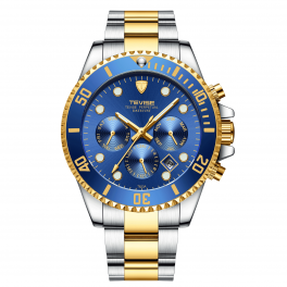 Tevise Perpetual Datejust Blue/Gold-20