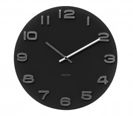 Karlsson Wall clock Vintage black round glass-20