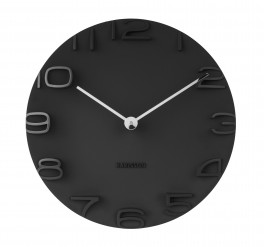 Karlsson Wall clock On The Edge black w. chrome hands-20