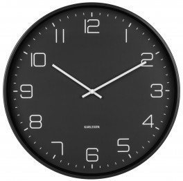 Karlsson Wall Clock Lofty Matt Black KA5751BK-20