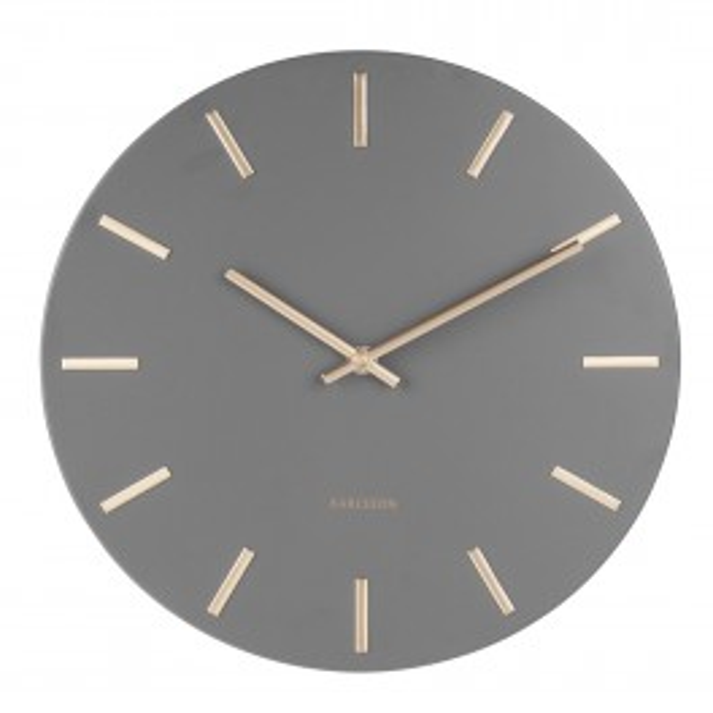 Karlsson Wall Clock Charm KA5716GY-20
