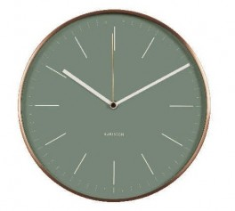 Karlsson Wall Clock Minimal Jungle Green KA5507GR-20