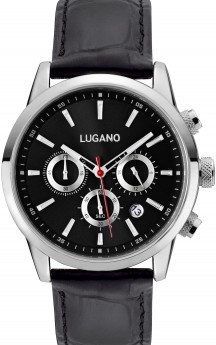 ** PRE-ORDER LEVERING 8 MAJ ** Lugano Master Black Leather Black-20