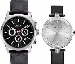 Lugano Master Black Leather Black Megir Mini Focus Silver Leather-20