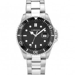 Lugano Diver Steel/Black-20