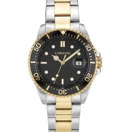 Lugano Diver Steel/Gold/Black-20