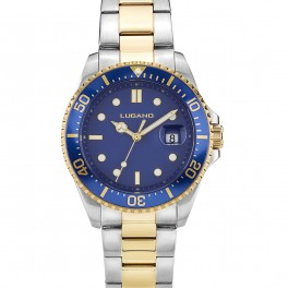 Lugano Diver Steel/Gold/Blue-20