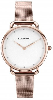Lugano Rose Gold Mesh White-20