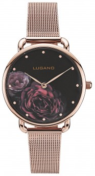 Lugano Rose Gold Mesh Black Floral-20