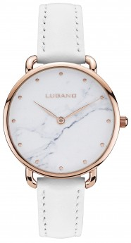 Lugano Rose Gold White leather Marble-20