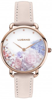 Lugano Rose Gold Pink leather Floral-20