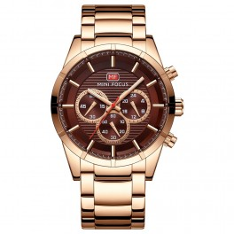 Megir Mini Focus Chrono Gold/Brown-20