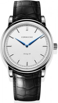 Corniche Men's Heritage 40 Stainless Steel with White Dial-20
