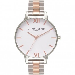 Olivia Burton White Dial Bracelet Silver and Rose Gold-20