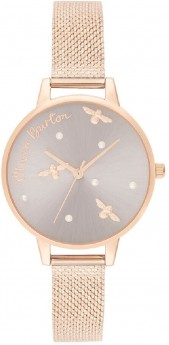Olivia Burton Pearly Queen Pearl Detail Rose Gold-20