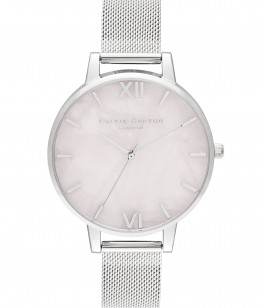 Olivia Burton Semi Precious Silver and Rose Mesh-20
