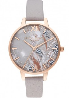 Olivia Burton Abstract Florals Rose Gold-20
