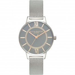 Olivia Burton Grey Dial Pale Rose Gold-20