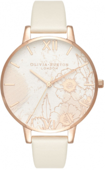 Olivia Burton Abstract Florals Vegan Nude and Rose Gold-20