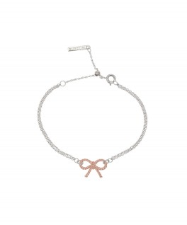 Olivia Burton Bow Coin Bracelet Silver And Rose Gold-20