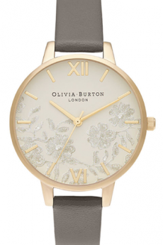 Olivia Burton Demi Nude Dial Vegan London Grey and Gold-20
