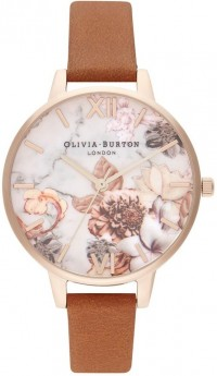 Olivia Burton Marble Florals Honey Tan and Rose Gold-20