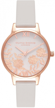 Olivia Burton Lace Detail Blush and Rose Gold-20