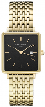 Rosefield The Boxy Black Steel Gold-20