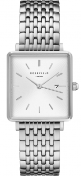 Rosefield The Boxy White Sunray Steel Silver-20