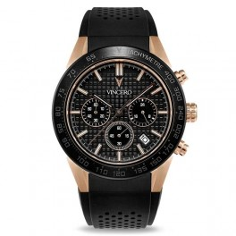 Vincero Rogue Black and Rose Gold-20