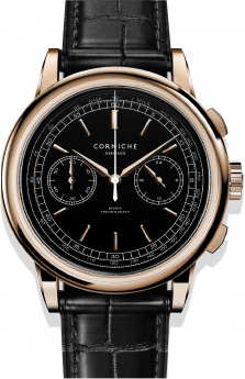 Corniche Heritage Chronograph Rose Gold with Black dial-20
