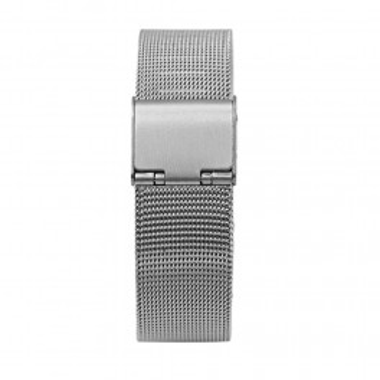 Sølv/stål mesh rem 22 mm.-20