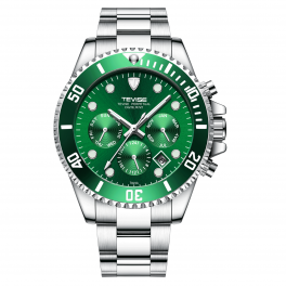Tevise Perpetual Datejust Green/Steel-20