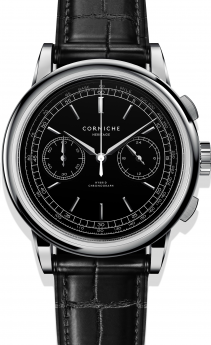 Corniche Heritage Chronograph Steel with Black dial-20