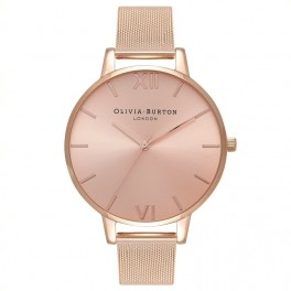 Olivia Burton Sunray Big Dial Rose Gold Mesh-20