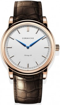 Corniche Men's Heritage 40 Rose Gold with White Dial-20