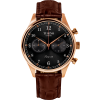 Tusenö FIRST 42 ROSE GOLD/BLACK BROWN Alligator STRAP-023