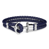 Paul Hewitt Anchor Bracelet Silver Blue-00