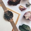 Olivia Burton Brown Dial Rose Gold Mesh-01